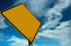 Blank Sign. Add your own ad design onto this blank sign Royalty Free Stock Image