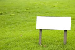 Blank Sign. Board with copy space Stock Photos