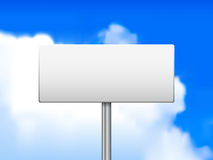Blank sign against Stock Image