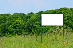 Blank sign against landscape Stock Photos