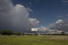 Blank sign along highway. A blank billboard alongside the highway Stock Photos