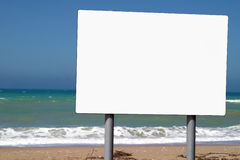 Free Blank Sign Beside Ocean Royalty Free Stock Photos - 2747928