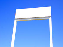 Blank sign in blue sky Stock Photo