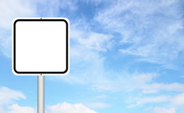 Blank sign with blue sky Royalty Free Stock Images
