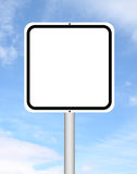 Blank sign with blue sky Royalty Free Stock Image