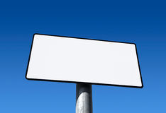 Blank sign board with blue sky Royalty Free Stock Photo