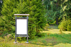 Blank sign board in the park Stock Image