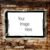 Blank sign on brown grunge Royalty Free Stock Photography