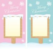 Blank sign christmas Stock Photos