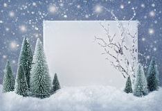 Blank sign with christmas decorations Royalty Free Stock Photography