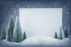 Blank sign with christmas decorations Royalty Free Stock Images