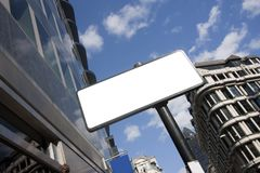 Blank sign in the city Stock Photography
