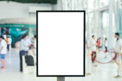 Blank sign with copy space for your text message content in mall. Stock Image