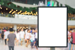 Blank sign with copy space for your text message or content in the modern shopping mall. Stock Image