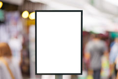Blank sign with copy space for your text message or content in the modern shopping mall. Royalty Free Stock Photography