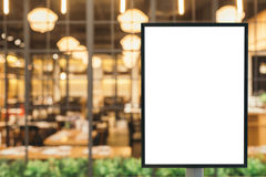 Blank sign with copy space for your text message or content in the modern shopping mall. Stock Photo