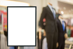 Blank sign with copy space for your text message or content modern shopping mall. Stock Images