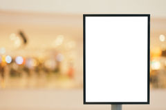 Blank sign with copy space for your text message or content in shopping mall. Stock Photography