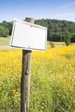 Blank sign in the countryside Royalty Free Stock Photos