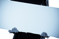 Blank Sign for Custom Text Stock Photo