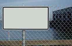 Blank Sign on Fence Royalty Free Stock Photos
