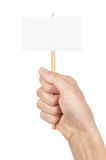 Blank sign in fist Royalty Free Stock Photo