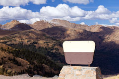 Blank Sign In Front Of Mountains Royalty Free Stock Images
