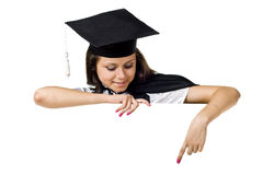 Blank sign - Graduate Royalty Free Stock Photo