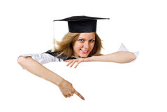 Blank sign - Graduate Royalty Free Stock Photos