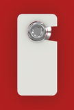 Blank Sign on Hotel Door. 3d illustration Royalty Free Stock Photos