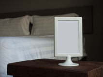 Blank sign in the hotel Royalty Free Stock Photography