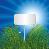 Blank Sign In Grass Stock Photo