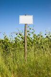 Blank sign indicating in the countryside Royalty Free Stock Photography