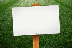 Blank sign on the lawn Stock Images