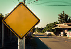 Blank sign near the road Royalty Free Stock Photo