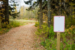 Blank Sign Next to Winding Path Stock Images
