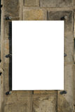 Blank sign over rock Stock Images