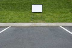 Blank Sign For Parking Place Royalty Free Stock Image