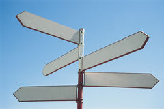 Blank sign post.  royalty free stock photos