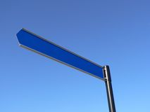 Blank Sign in Sky royalty free stock photography
