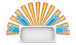 Blank sign with stars Royalty Free Stock Photos