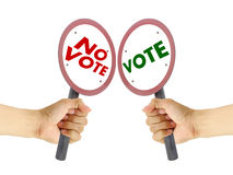 Blank sign for vote Stock Photo