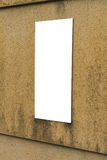 Blank sign on wall . Blank sign on wall Royalty Free Stock Photo