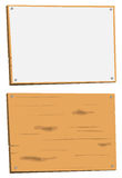 Blank Sign And Wood Sign Royalty Free Stock Photos