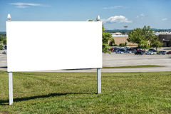 Blank sign in yard Royalty Free Stock Photo