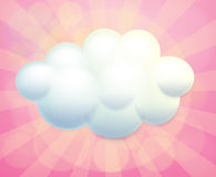 A blank signage in a cloud form Royalty Free Stock Photos
