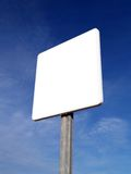 Blank signal. And blue sky Royalty Free Stock Images