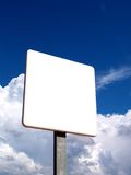 Blank signal 2. Blank signal against cloudy sky Royalty Free Stock Photos