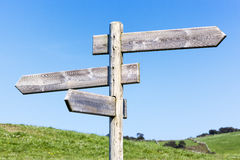 Blank signpost Stock Photos