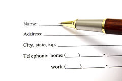 Blank signature paper Royalty Free Stock Photography